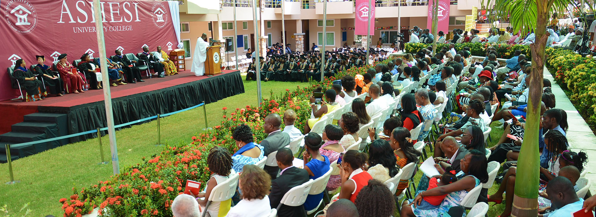 <p>It was the very first commencement ceremony on Ashesi's own campus</p>